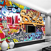 HDOUBR Bunte Rock Graffiti Bar Wandbilder Tapete