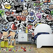 HDOUBR Kinder Tapete, Tier Trompete Graffiti