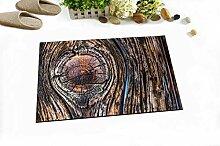 hdrjdrt Fußmatte aus Holz mit Rissbildung und