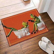 hdrjdrt One Frosch sitzen auf Toilette das