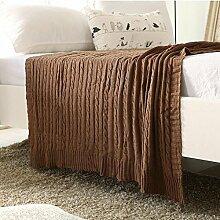 HDZLL Sofa-Teppich NAP Wolle Decken/Teppiche/Wandteppiche/Teppich/Klimaanlage/Baumwolle Decke stricken , brown