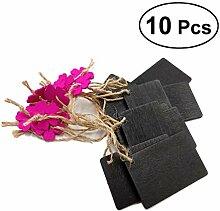 Healifty 10 stücke Mini Holz tafel holzscheiben