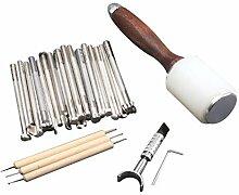 Healifty Leder Handwerk Werkzeug DIY Leder Gravur