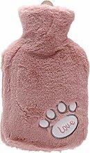 Healingpie Wärmflasche Mit Weichem Vliesbezug,