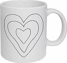 Heart' Ceramic Mug/Travel Coffee Mug