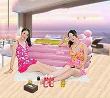 Heart&M Aufblasbare Doppelbadewanne Schwimmbad Erwachsene Kunststoff Bad Barrel Fass dicker Isolierung große Badewanne . pink . l
