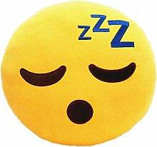 Heartcheng 2PCS Emoji Kissen bunter lächelnder,32