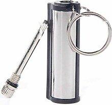 Hearthrousy Metall Match Keychain Key Zylindrische