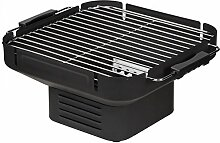 HEAT Tischgrill Holzkohle, Camping Grill, Klappgrill, Schwarz