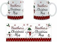 Heather'Weihnachten Becher, Tasse, Keramik,