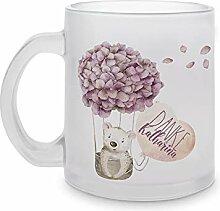 Hebamme Danke Geschenk, Glas Tasse mit Namen