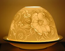Heckenrose Blütenmotiv Flowerpower Windlicht