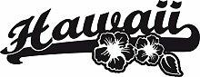 Heckscheiben Auto Aufkleber Autoaufkleber Tuning Hawaii Sticker Blumen (70x27cm // 070G schwarz)