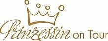 Heckscheiben Auto Aufkleber Autoaufkleber Tuning Prinzessin on Tour Sticker (70x27cm // 930G gold)