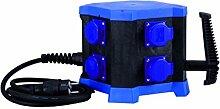 HEDI Mobiler Steckdosenverteiler, 1 Stück, blau, KVM8000