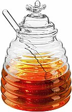 Hedume Honigglas mit Dipper und Deckel,
