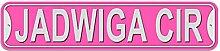 Hedwig Schild–Kunststoff Wand Tür Street Road weiblich Name, plastik, rose, Kreis