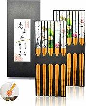 HEEFEN 10 Paar Chopsticks Set Japanisch Bunte