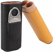 HEEPDD Zigarren Humidor, Elegante Schwarze Leder