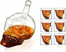 HEFUTE Totenkopf Gläser Schnap Whiskey gläser