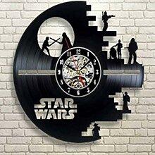 HEHE 3D Star Wars Vinylaufzeichnung Wanduhr Vinyl