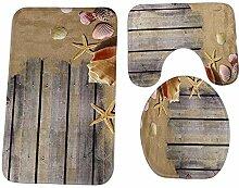 Heheja Mode Badgarnitur Badematten Set 3 teilig