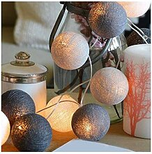 Heheng LED Lichterkette Batteriebetrieben Cotton