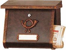 Heibi Briefkasten Multi, in Rostbraun