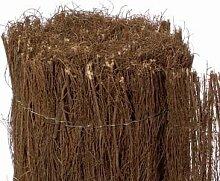 Heidematte günstig aus Heidekraut 100 x 500cm, ca 1cm Dicke Sichtschutzmatte Premium Qualität - ca. 0,9kg/m²