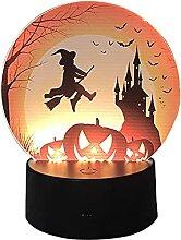 HeiHeiDa Halloween Nachtlicht Kürbis Lampe