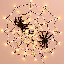 HeiHeiDa Halloween Spinnennetz Lichter -