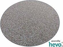 Heilbronn grau 006 HEVO® Teppich | Kinderteppich | Spielteppich 160 cm Ø Rund