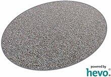 Heilbronn grau 006 HEVO® Teppich | Kinderteppich | Spielteppich 125x200 cm Ellipse
