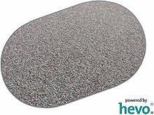 Heilbronn grau 006 HEVO® Teppich | Kinderteppich | Spielteppich 200x280 cm Oval