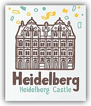 Heilderberg City Germany Castle - Self-Adhesive