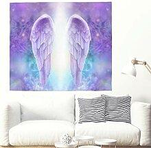 Heilig Lila Flügel mit Licht Kunstwerk