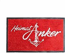HeimatAnker Fußmatte Rostock rot - Logo vom