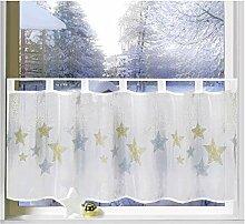 heimtexland ® Scheibengardine Weihnachten 45x120