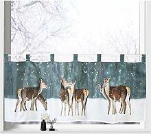 heimtexland ® Scheibengardine Weihnachten