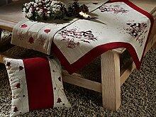 heimtexland Weihnachten Kissenhülle Leinen natur