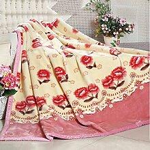 Heimtextilien Flanell Geschnitzte Decke Winter-Eindickung Doppel Blumen Abdeckung Decke Decke Decke ( farbe : # 4 )
