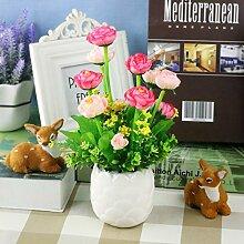 Heimtextilien Keramik Topf Blumen Garten Blumen Blumen Hochzeit Tischdekoration Wohnzimmer Einrichtung Frische Kleine, Rosa Weiß Po