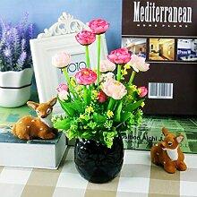 Heimtextilien Keramik Topf Blumen Garten Blumen Blumen Hochzeit Tischdekoration Wohnzimmer Einrichtung Frische Kleine, Rosa Schwarz Waschbecken