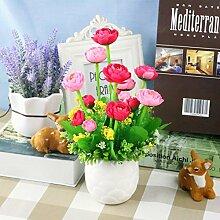 Heimtextilien Keramik Topf Blumen Garten Blumen Blumen Hochzeit Tischdekoration Wohnzimmer Einrichtung Kleine, Frische, Rose Rot Weiss Waschbecken