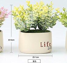 Heimtextilien Potted Plant Simulation Garten Dekoration Dekoration Pflanze, Gelb