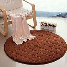 Heimtextilien Runde Teppiche Full Shop Moderne Minimalist Couchtisch Sofa Korb Große Teppich Schlafzimmer BlanketComputer Stuhl Matten ( Farbe : #1 , größe : 60*60cm )