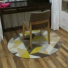 Heimtextilien Runde Teppiche Full Shop Moderne Minimalist Couchtisch Sofa Korb Große Teppich Schlafzimmer Decke (Einfache Geometrie) ( größe : 100*100cm )