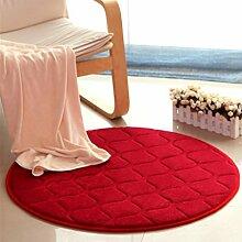 Heimtextilien Runde Teppiche Full Shop Moderne Minimalist Couchtisch Sofa Korb Große Teppich Schlafzimmer BlanketComputer Stuhl Matten ( Farbe : #4 , größe : 40*40cm )