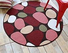 Heimtextilien Runde Teppiche Moderne Minimalist Couchtisch Sofa Korb Große Teppich Schlafzimmer Decke Computer Stuhl Matten ( Farbe : #5 , größe : 90*90cm )