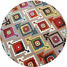 Heimtextilien Runde Teppiche Moderne Minimalist Couchtisch Sofa Korb Große Teppich Schlafzimmer Decke Computer Stuhl Matten ( Farbe : #1 , größe : 120*120cm )